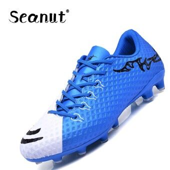 Seanut Men Waterproof Artificial Leather Football Boots light-wearing Football Shoes lace-up Indoor