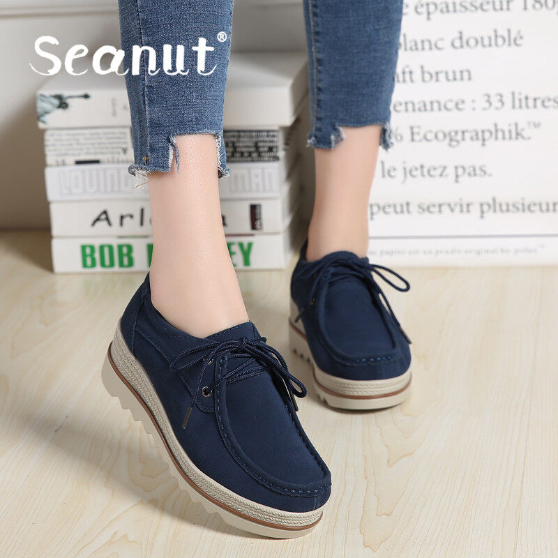 Seanut Spring & New Women's Shoes Cake Thick End Casual Woman Lazy Shoes Carrefour Shoes - intl