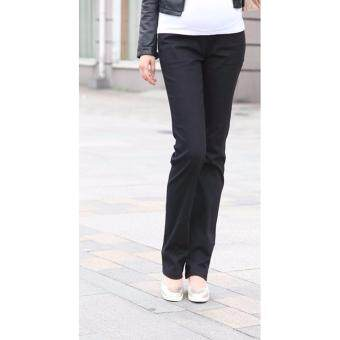 Harga Seluar Mengandung / Maternity Long Pants - Black Button Straight Cut