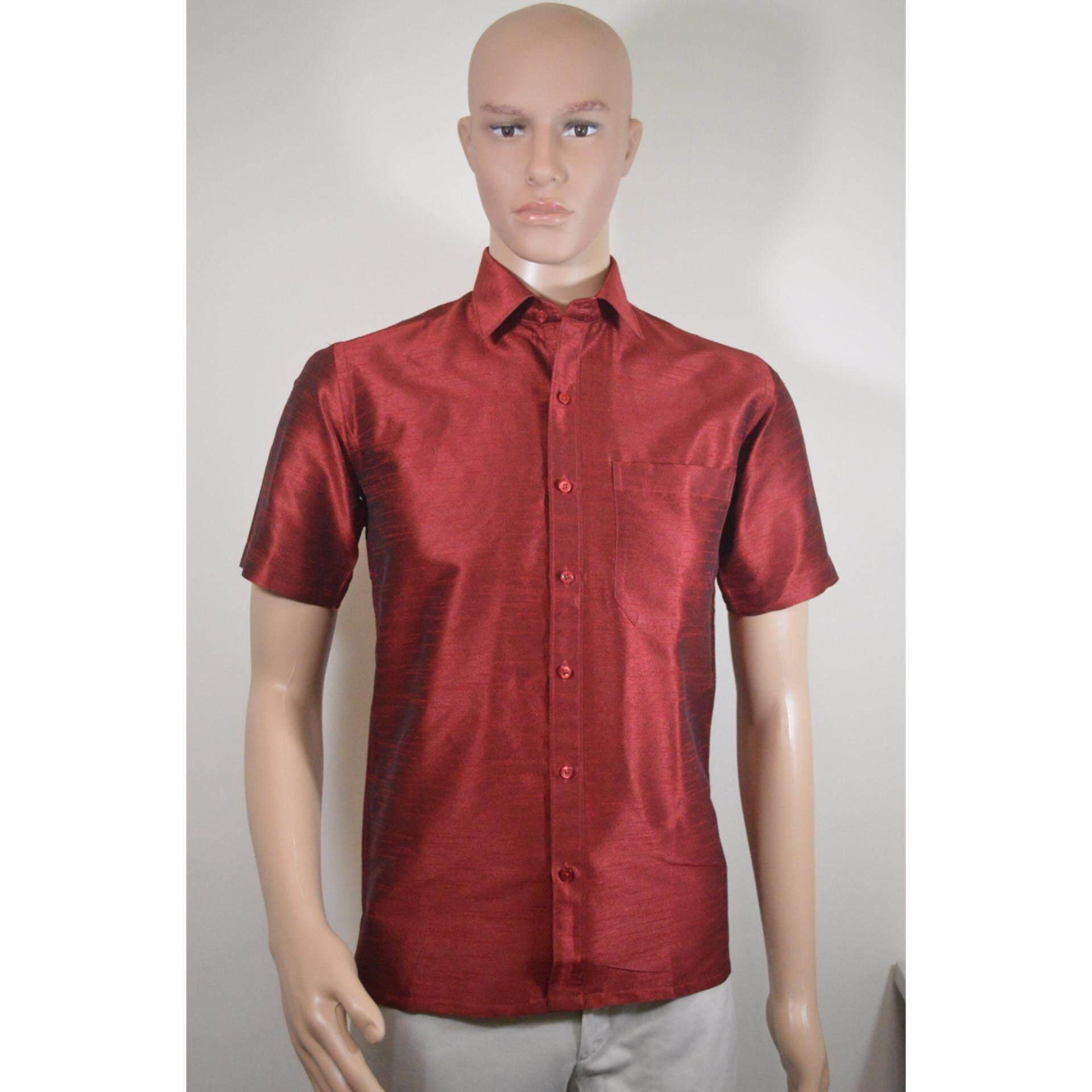 Semi Silk Shirt- Maroon