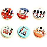 Set of 5 Round Hard Case Coin Purses - Soldiers Series
