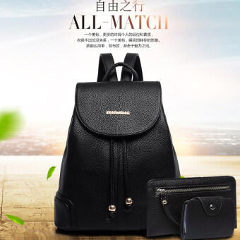 Shoulder Bag female tide 2017 New style Korean-style Cool wild casual Summer Student Campus school bags female Pu backpack