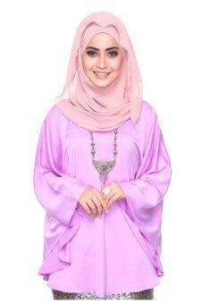 Silky Kaftan Top - Lilac