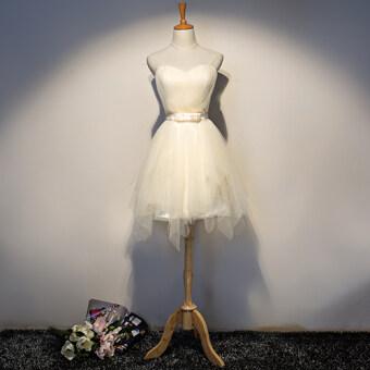 Sisters Slim fit bridesmaid group champagne color dress bridesmaid dress (Champagne color d paragraph) (Champagne color d paragraph)