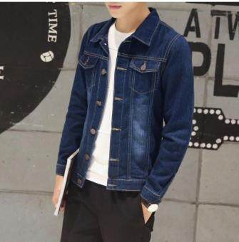 Slim Denim Jacket Mens jacket denim shirt cardigan stretch denim