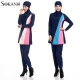 Sokano Fashion Ladies 5587 Muslimah Women Swim Suit Wear Sport Clothing - Blue