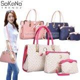(RAYA 2019) SoKaNo Trendz 011 Tote Bags Set of 3 White