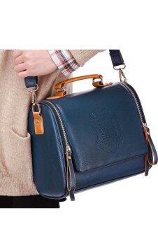 SoKaNo Trendz CROWN Premium PU Leather Crown Crossbody Bag- Dark Blue