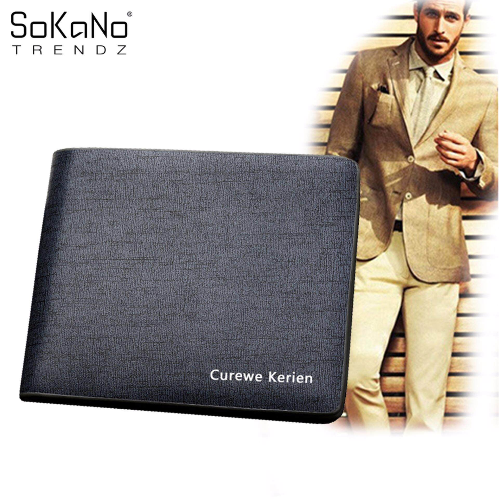 SoKaNo Trendz Curewe Kerien Premium PU Leather Men Wallet Horizontal - K188-1 Blue