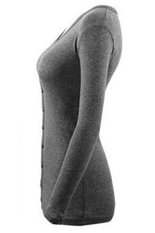 SoKaNo Trendz Long Sleeve V Neck Knitted Cardigan- Dark Grey