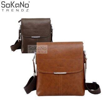 SoKaNo Trendz Premium POLO 3001 Vertical Leather Bag- Light Brown