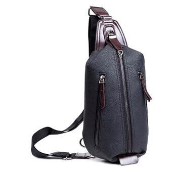 SoKaNo Trendz PU Leather Shoulder Sling And Waist Bag Black