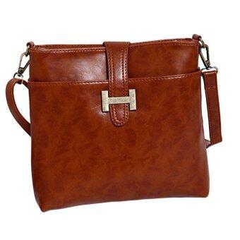 SoKaNo Trendz SKN603 Premium PU Leather Crossbody Tote Bag- Brown