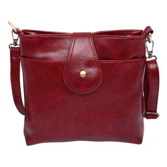 SoKaNo Trendz SKN603 Premium PU Leather Crossbody Tote Bag- Wine Red