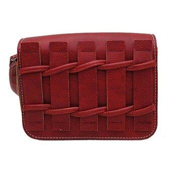 SoKaNo Trendz SKN606 Fashion PU Leather Crossbody Bag- Red