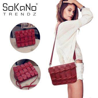 SoKaNo Trendz SKN606 Fashion PU Leather Crossbody Bag- Red