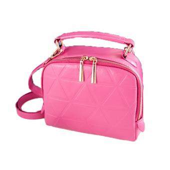 SoKaNo Trendz SKN607 Premium PU Geometric Leather Crossbody Bag_Pink