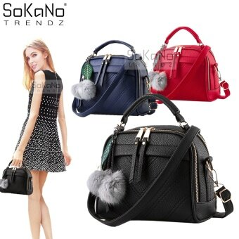SoKaNo Trendz SKN607 Premium PU Leather Crossbody Bag- Black