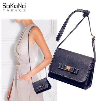 SoKaNo Trendz SKN609 PU Leather Sling Handbag -Black