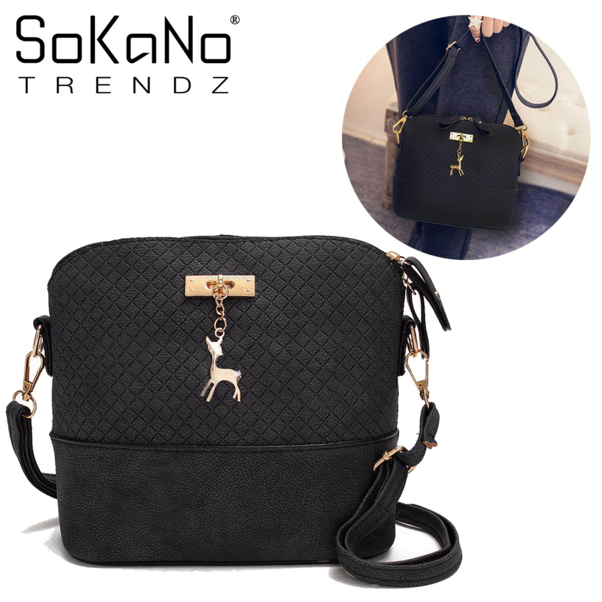 ... Charm Handbeg Wanita - Black · Sokano Trendz Skn619 Pu Leather  Crossbody Bag With Deer Char. f64687dd91