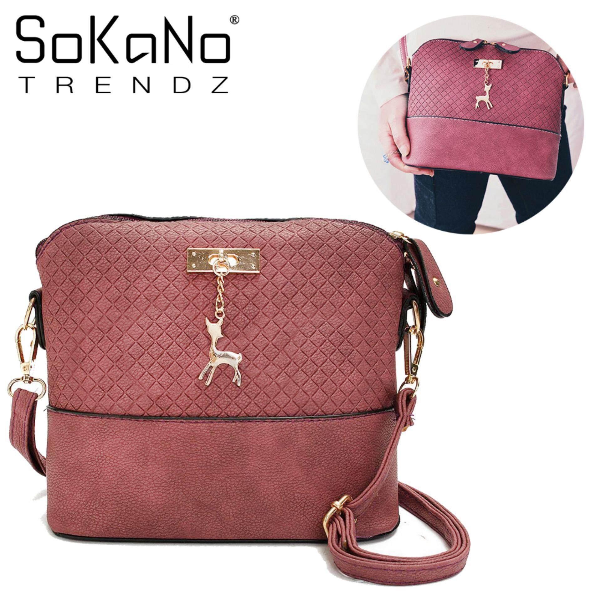 ... Charm Handbeg Wanita - Maroon · Sokano Trendz Skn619 Pu Leather  Crossbody Bag With Deer Char. e134f03d32