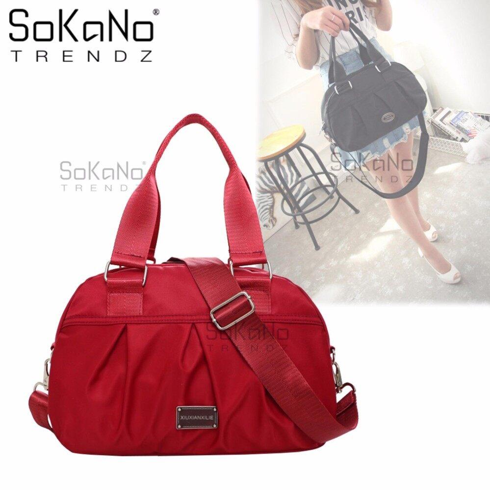 SoKaNo Trendz SKN624 Korean Style Premium Nylon Type Sling Shoulder Bag Handbeg Wanita- Red