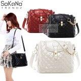 (RAYA 2019) SoKaNo Trendz SKN737 PU Leather Bag Handbeg Wanita- Beige