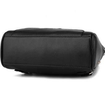 SoKaNo Trendz SKN741 Premium PU Leather Backpack- Black