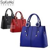 (RAYA 2019) SoKaNo Trendz SKN801 Premium PU Leather Bag Handbeg Wanita- Blue