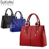 (RAYA 2019) SoKaNo Trendz SKN801 Premium PU Leather Bag Handbeg Wanita- Red