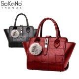 (RAYA 2019) SoKaNo Trendz SKN803 Premium PU Leather Bag Handbeg Wanita- Red