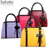 (RAYA 2019) SoKaNo Trendz SKN805 Premium PU Leather Top Handle Bag Handbeg Wanita- Yellow