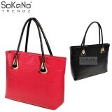 (RAYA 2019) SoKaNo Trendz SKN808 Large Capacity Premium PU Leather Bag Handbeg Wanita- Red