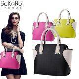(RAYA 2019) SoKaNo Trendz SKN809 Eurpean Style Smiley Premium PU Leather Bag Handbeg Wanita- Black