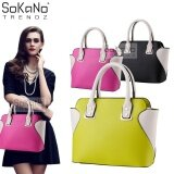 (RAYA 2019) SoKaNo Trendz SKN809 Eurpean Style Smiley Premium PU Leather Bag Handbeg Wanita- Green