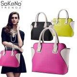 (RAYA 2019) SoKaNo Trendz SKN809 Eurpean Style Smiley Premium PU Leather Bag Handbeg Wanita- Rose Red