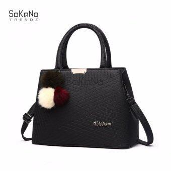 SoKaNo Trendz SKN827 Premium PU Leather Tote Bag- Black