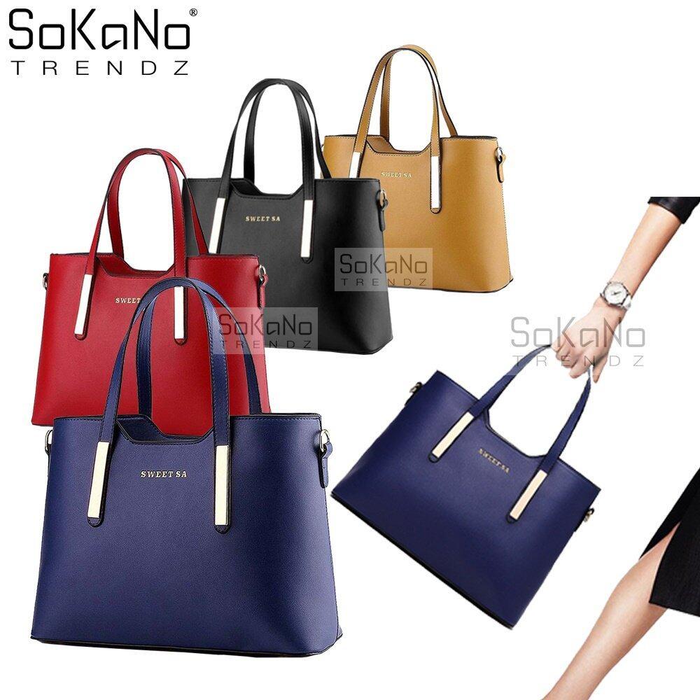 SoKaNo Trendz Sweet SA PU Premium PU Leather Bag Handbeg Wanita - Dark Blue