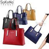 (RAYA 2019) SoKaNo Trendz Sweet SA PU Premium PU Leather Bag Handbeg Wanita - Red