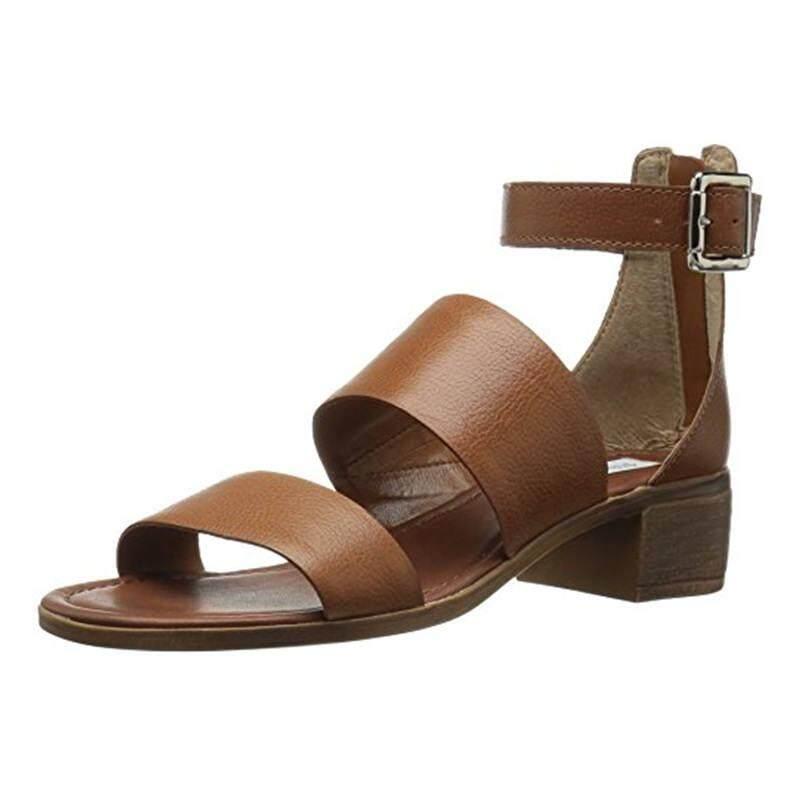 [Steve Madden] Steve Madden Women's Daly Dress Sandal Cognac Leather - intl