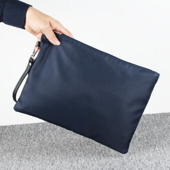 Stylish clutch bag casual Bag Paper Bag hand bag waterproof nylonOxford Cloth Bag man bag large capacity hand clutch bag tide (Blue)