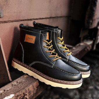 Harga Stylish youth hight-top boots Dr. Martens (Black)