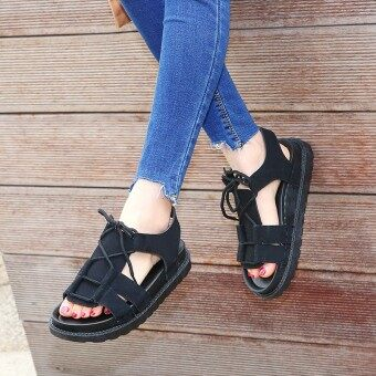 Summer Baotou sandals women shoes half slippers thick crustplatform shoes LR a word drag slope with high-heeled white shoessummer (Black)