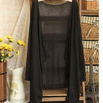 Harga Summer Thin Cardigan 2017 Summer Wear-Black
