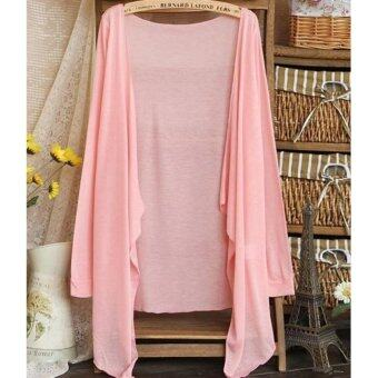 Summer Thin Cardigan 2017 Summer Wear-Pink