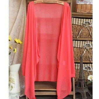 Summer Thin Cardigan 2017 Summer Wear-Watermelon Red