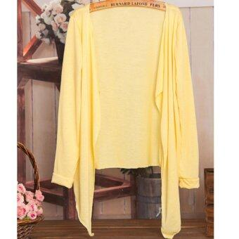 Harga Summer Thin Cardigan 2017 Summer Wear-Yellow