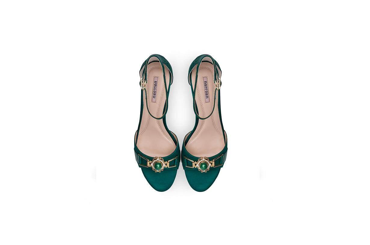 Sun Diamond Dark Green Sandals