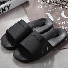 Sun New Fashion Women Men Slippers Flat House Casual Beach Sandals Soft Shoes Black