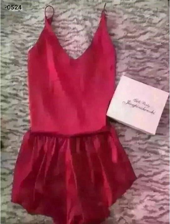 Sweet Sleepwear Lingerie Nightdress Maroon